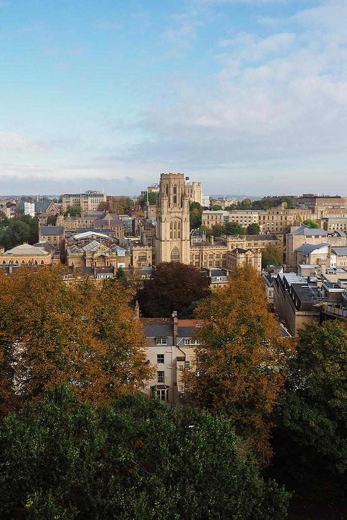 View over Bristol University