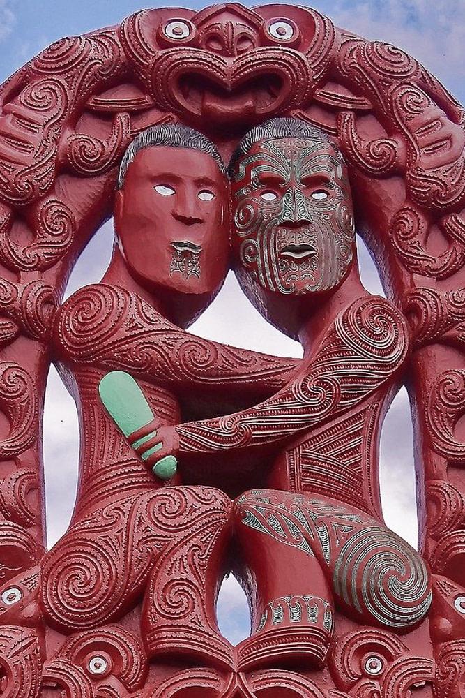 Traditional Maori Carving, Rotorua, New Zealand