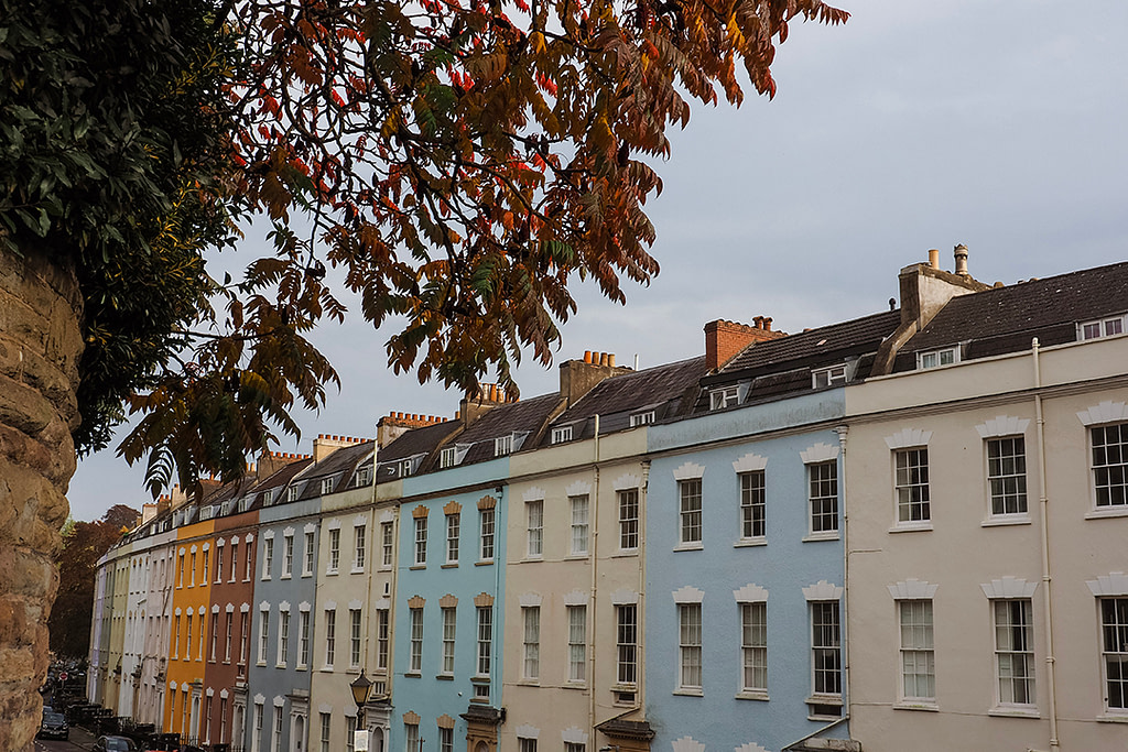 Colourful houses, Bristol